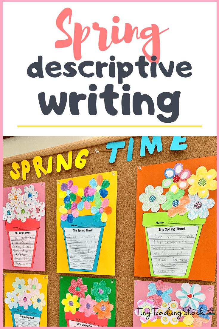 spring descriptive 5 senses writing