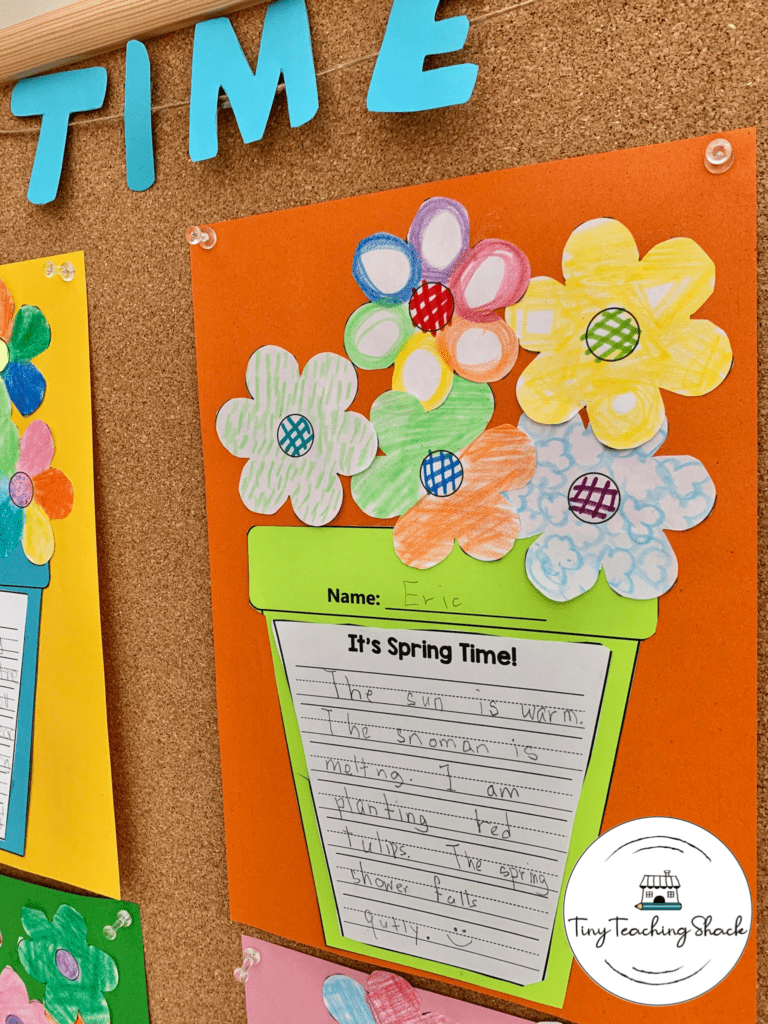 spring 5 sense writing for first grade