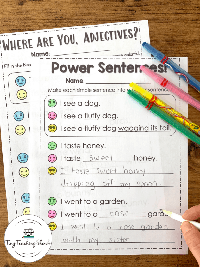 nouns and adjectives spring writing