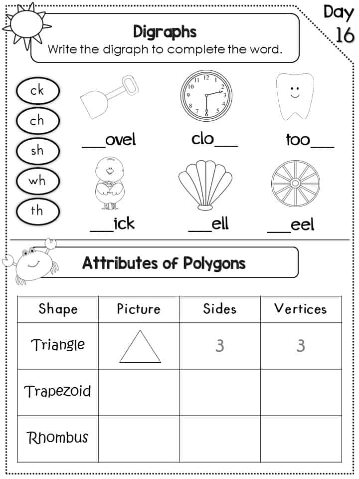 https://www.teacherspayteachers.com/Product/Summer-Review-Packet-for-1st-Grade-Common-Core-Aligned-1254828