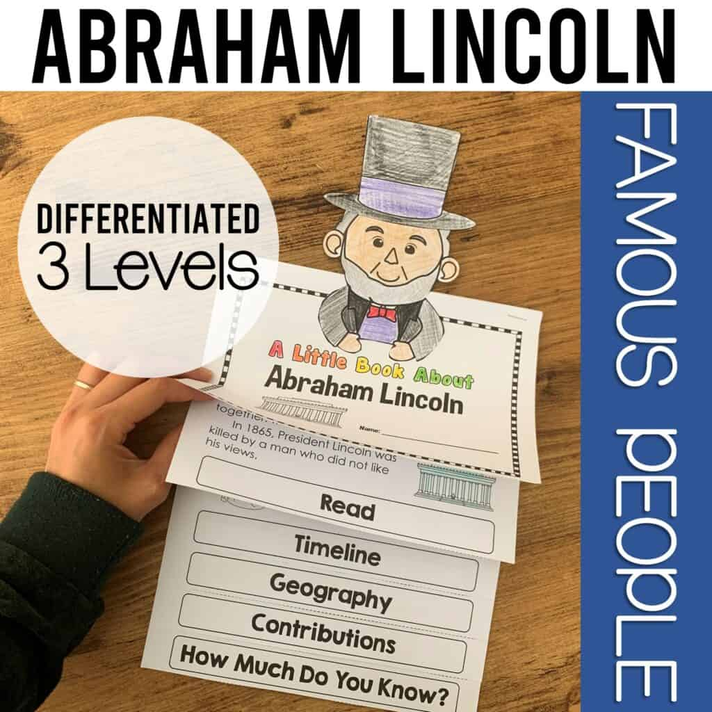 interactive flipbook of abraham lincoln perfect for president's day activity