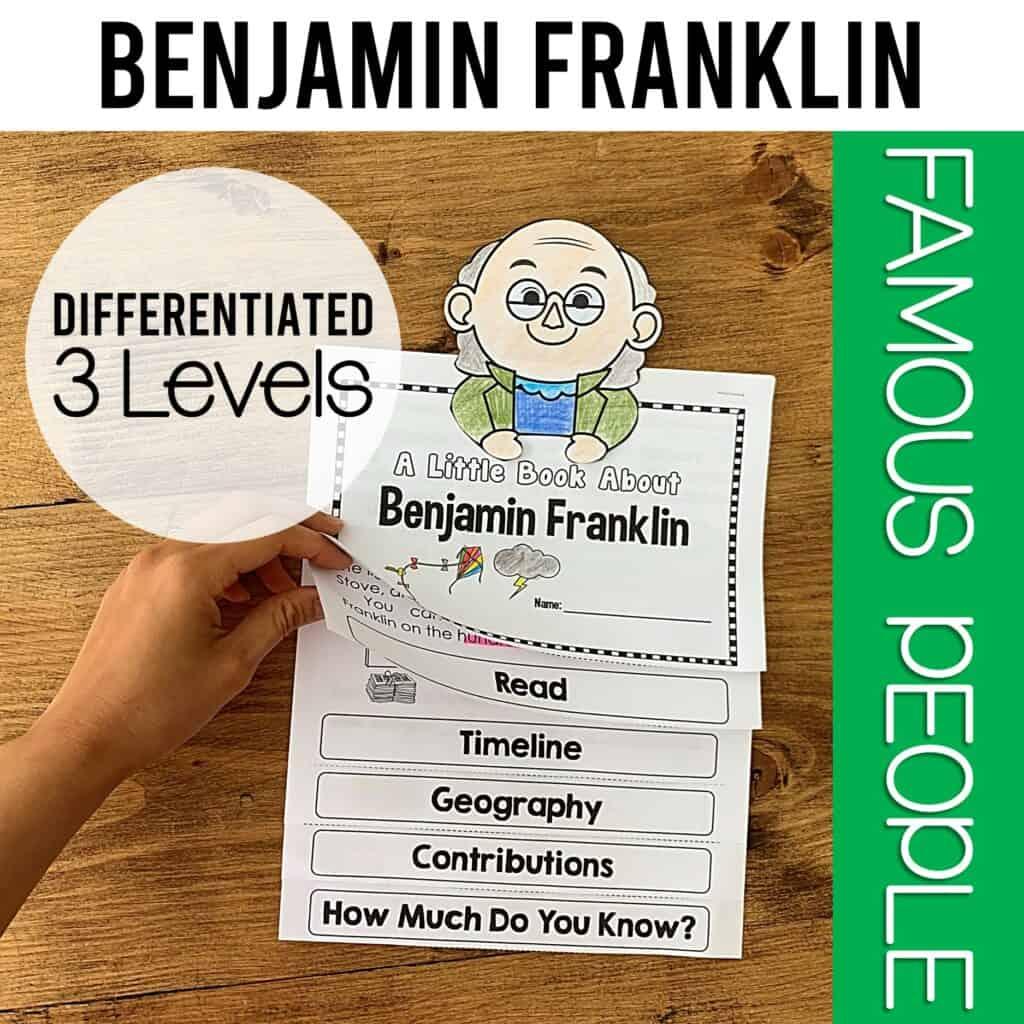 interactive flipbook of benjamin franklin- georgia standard social studies