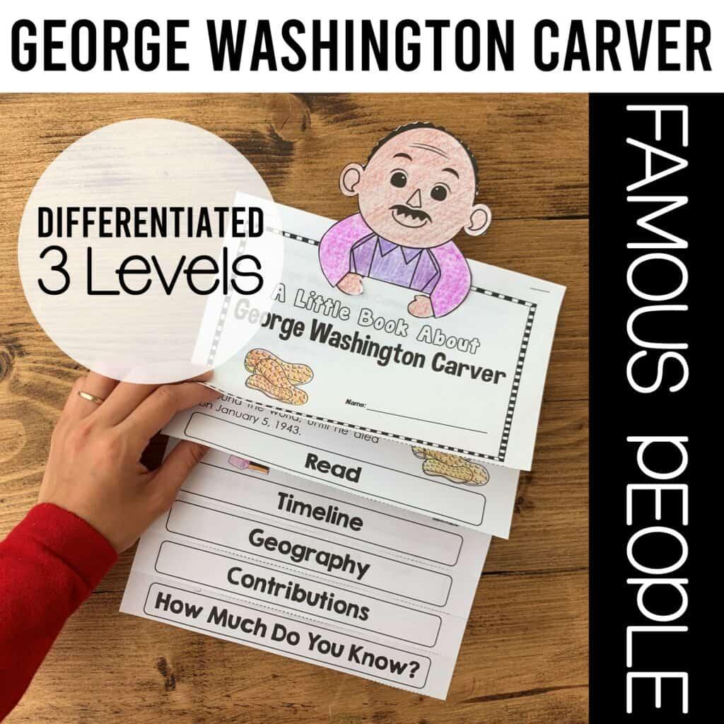 interactive flipbook of george washington carver- georgia standard social studies