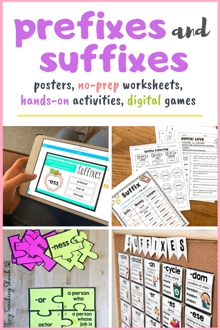 Prefixes and Suffixes Activities and Worksheets - Tiny Teaching Shack With Regard To Prefixes And Suffixes Worksheet