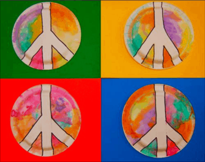 martin luther king art activity- paper plate peace sign