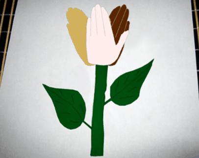 martin luther king art activity- hand flower