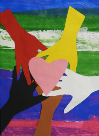 martin luther king art activity- hand collage arts and craft