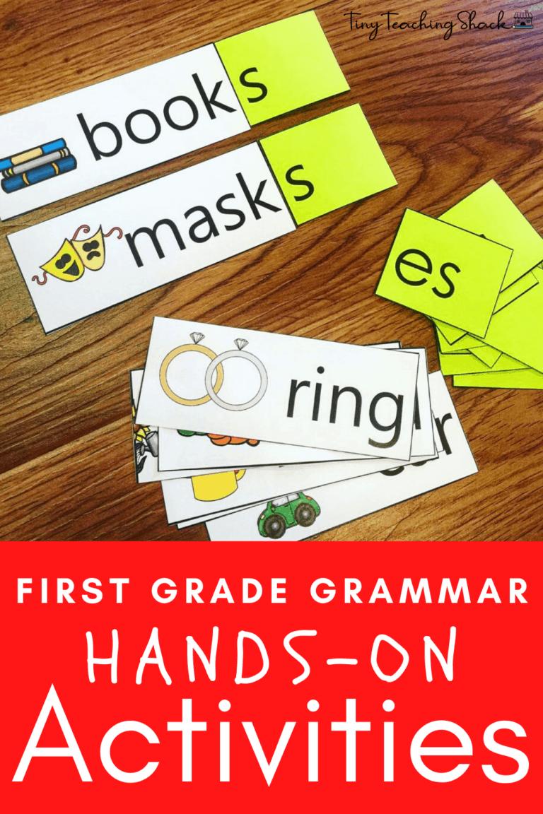 first grade and esol grammar activities