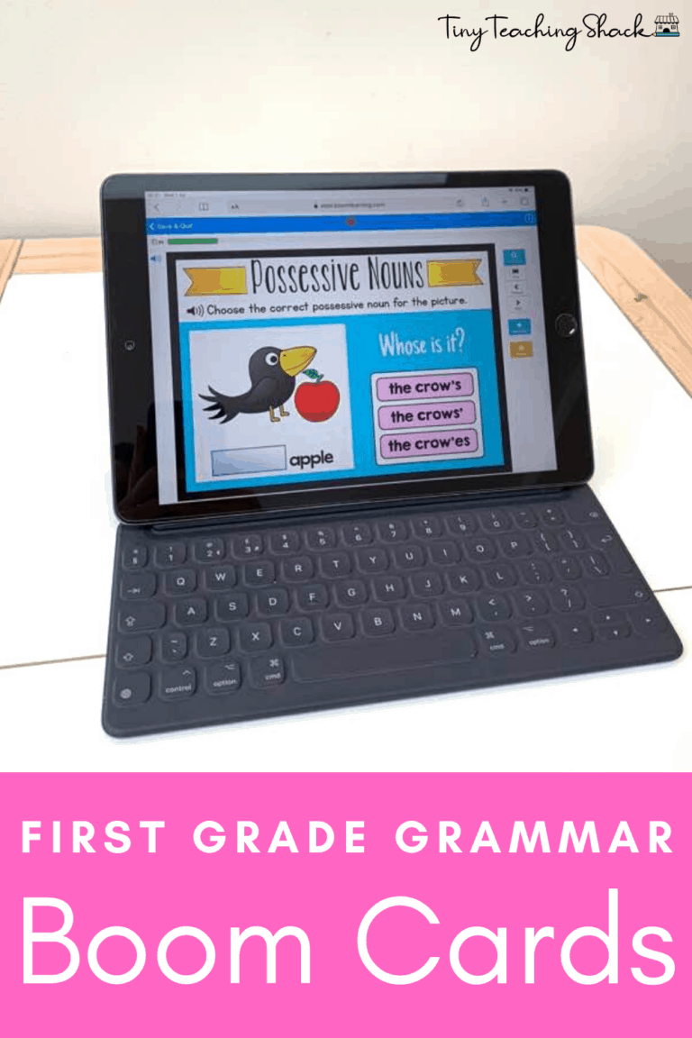 first grade and esol grammar and language Boom cards
