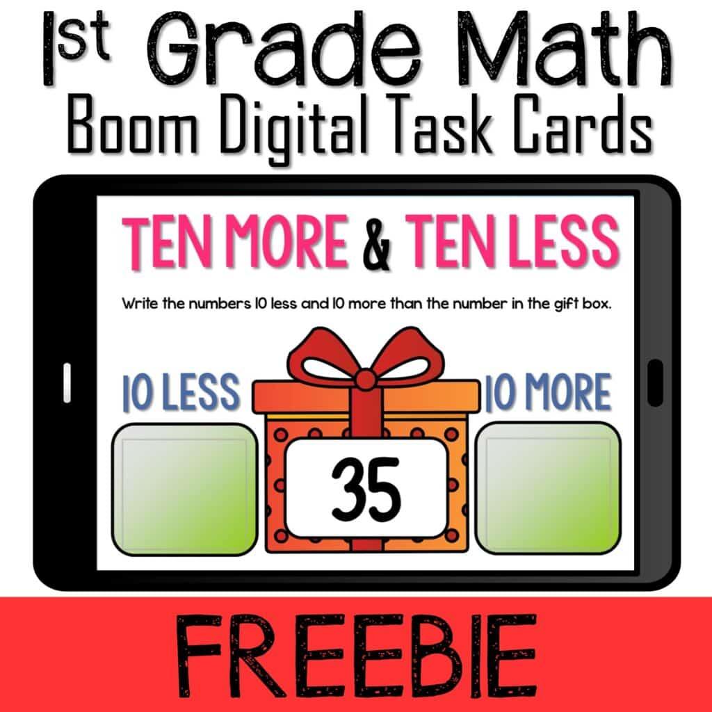 ten more ten less first grade math