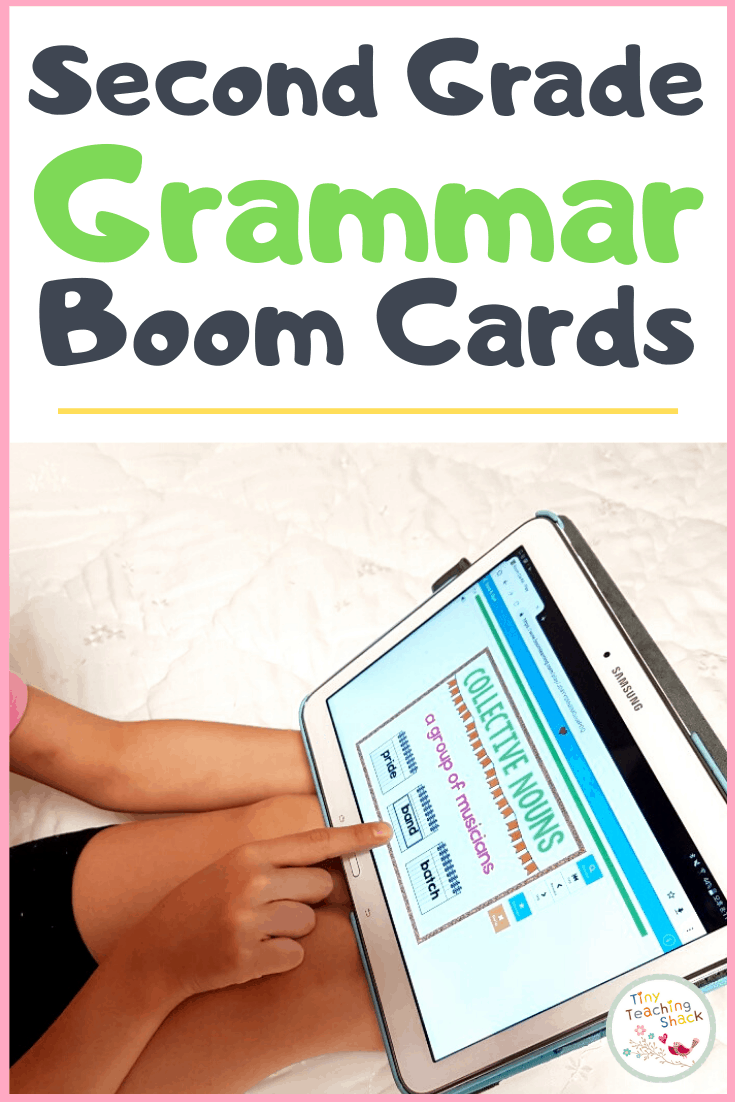 second grade grammar boom cards
