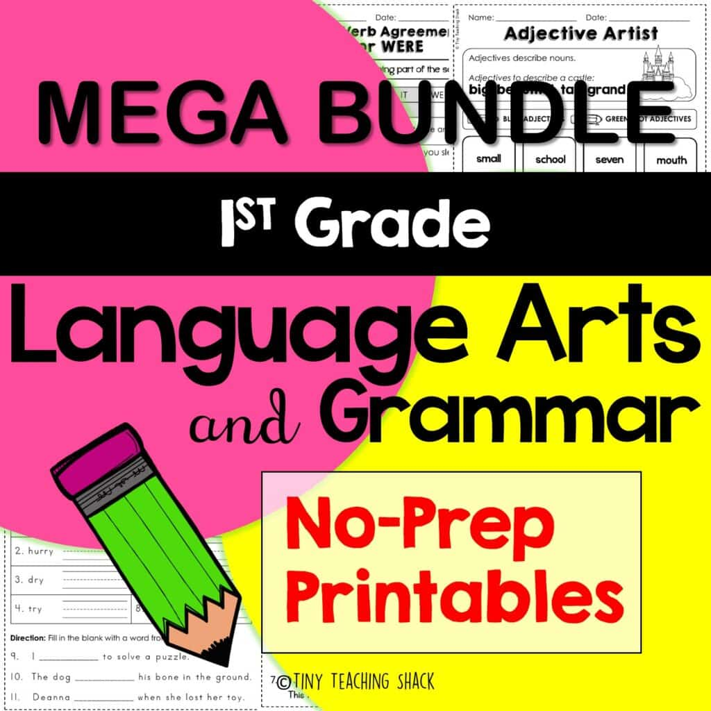 esol and first grade grammar and language arts worksheets