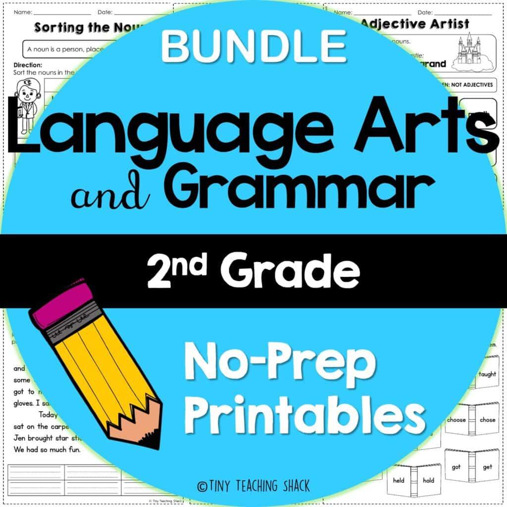 esol and second grade grammar and language arts worksheets