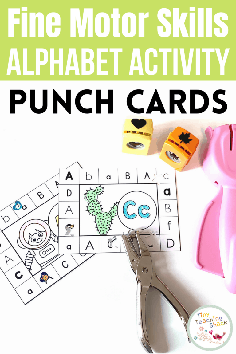 Alphabet Fine Motor Skills | Punch Cards is part of my Alphabet Fine Motor Skills Bundle. Students can punch holes, color, or put stickers on the focus letter. This is a great way to increase your students' letter recognition in a kid-friendly way.