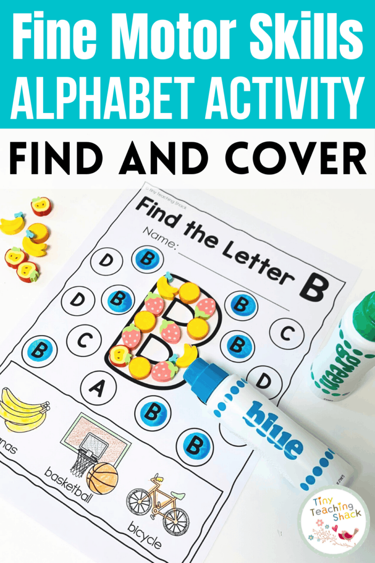 Alphabet Fine Motor Skills | Dot Marker and More is part of my Alphabet Fine Motor Skills Bundle. Students can practice one beginning letter sound at a time and cover the focus letter with a variety of things such as dot markers, mini erasers, pompom balls, or finger paint. This is a great way to increase your students' letter recognition in a kid-friendly way.