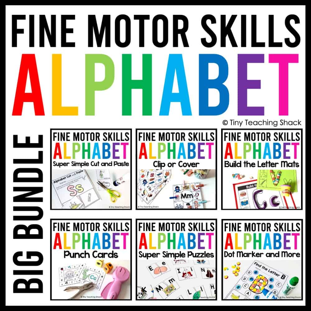 Alphabet Fine Motor Skills Bundle includes six simple and fun activities for young students to enjoy. Students will focus on beginning letter sounds and explore different vocabulary words focusing on one letter at a time. You can check out the individual packets to see the preview images and videos.