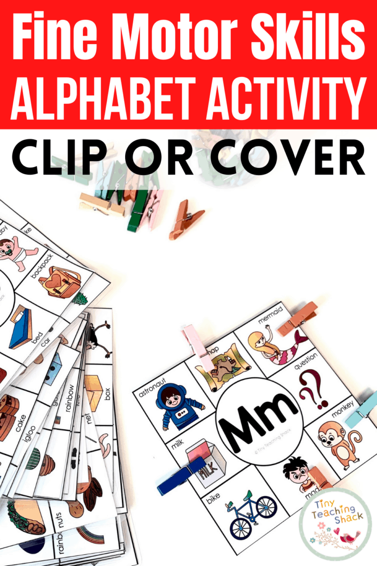 Alphabet Fine Motor Skills | Clip or Cover is part of my Alphabet Fine Motor Skills Bundle. This resource is super simple and is designed for very young students to focus on their fine motor skills. Students can either clip the the pictures that begin with the assigned letter with pegs or simply cover the pictures up with manipulatives like mini erasers.