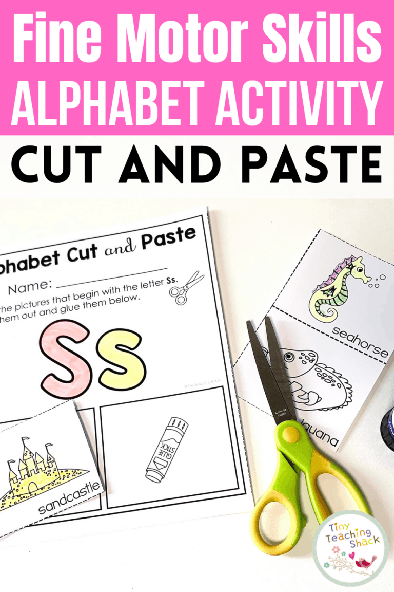 Alphabet Fine Motor Skills   Super Simple Cut and Paste is part of my Alphabet Fine Motor Skills Bundle. This resource is perfect for very young students who are just beginning to grasp their cutting skills. Students can color, cut, and glue the pictures that begin with the assigned letter. This is a great way to increase your students' letter recognition.