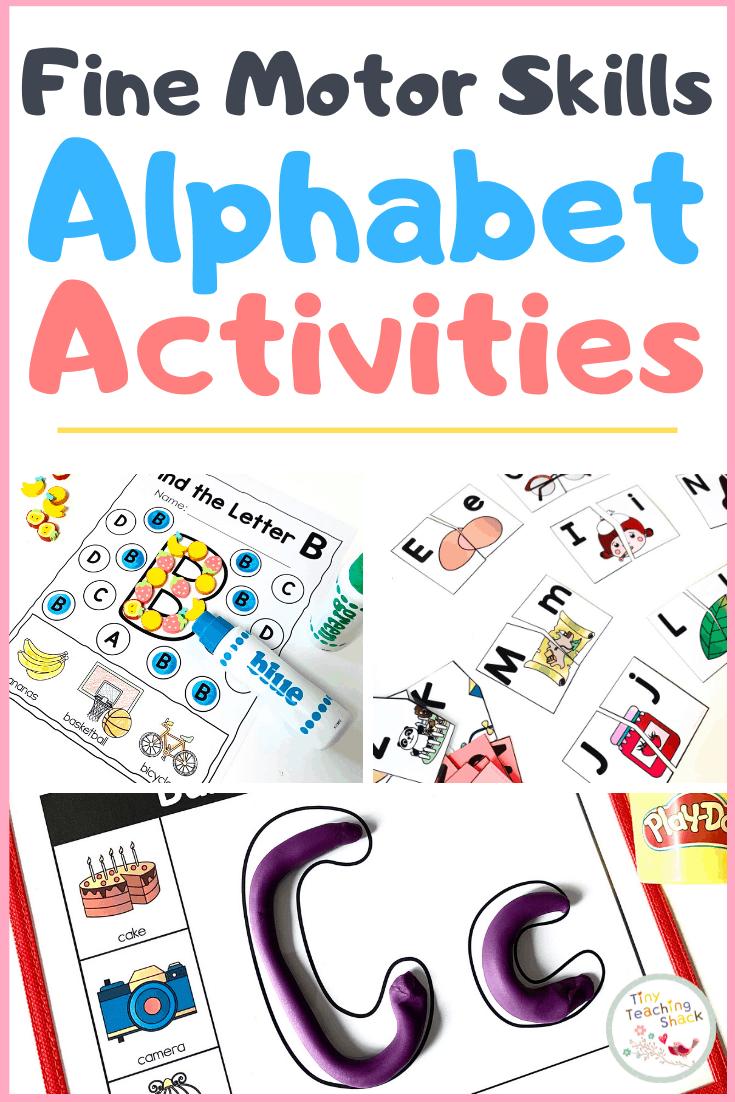 fine motor skills alphabet activities great for preschool, pre-k, and kindergarten