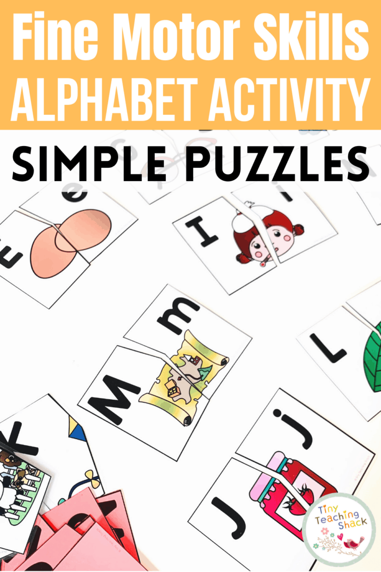 Alphabet Fine Motor Skills   Super Simple Puzzles is part of my Alphabet Fine Motor Skills Bundle. Students will have fun matching the capital letters with lowercase letters and practicing the beginning letter sounds. This is a great way to increase your students' letter recognition in a kid-friendly way. These puzzle pieces have very simple lines to be cut, making them efficient for teachers to prepare. You can print this resource in color or black and white.