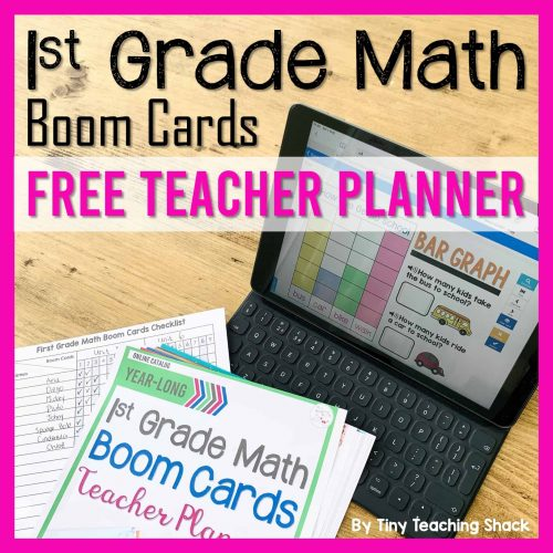 first grade math distance learning boom cards