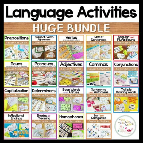 grammar language activities for first grade second grade and esol