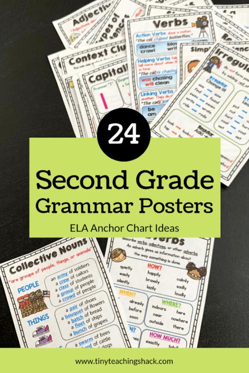 second grade grammar and language arts anchor charts