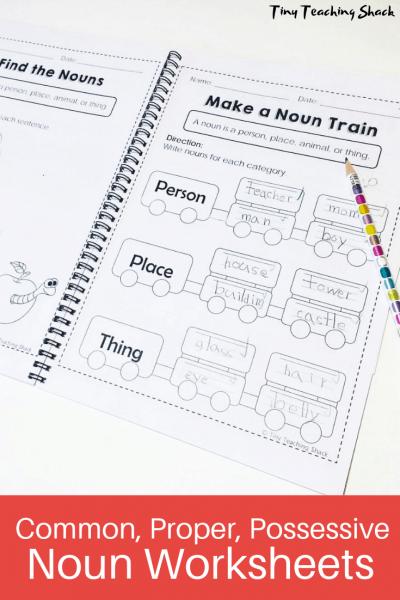 common, proper, possessive noun worksheets