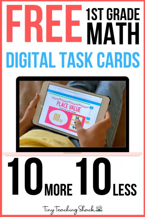 free first grade math game ten more ten less