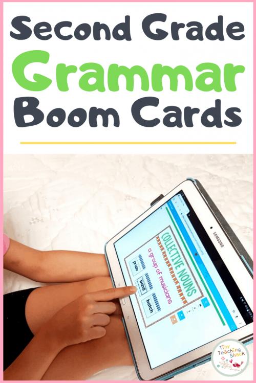 second grade grammar boom cards
