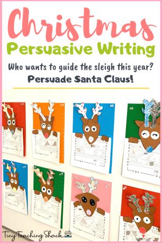 Christmas persuasive letter writing