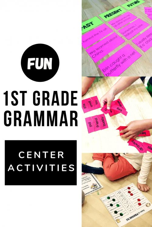 first grade grammar activities hands on learning