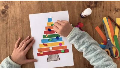 christmas tree arts and craft for kids