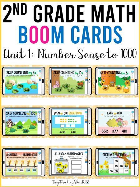 second grade math boom cards number sense