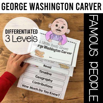 George Washington biography flipbook