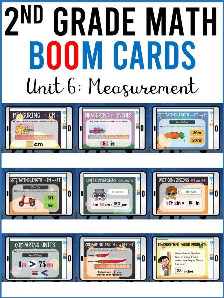 second grade math measurement boom cards