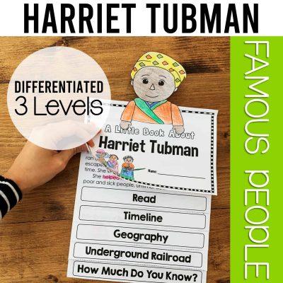 Harriet Tubman biography flipbook