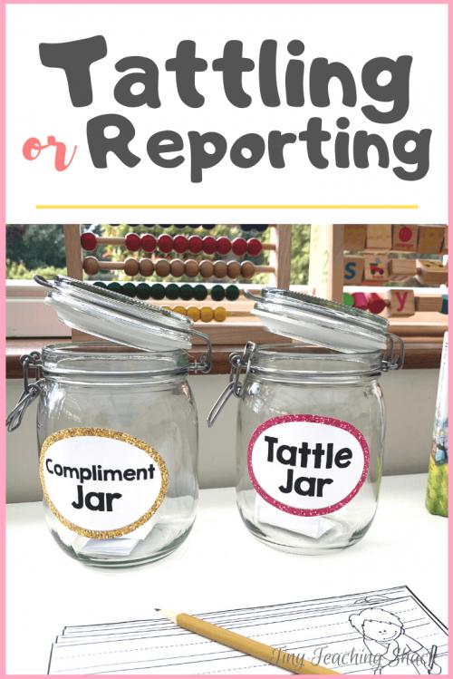tattling or reporting activities