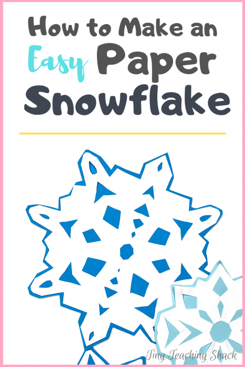 how to make an easy paper snowflake