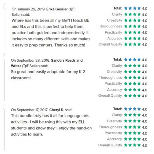 language center feedback
