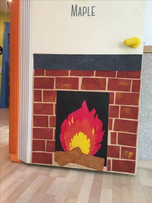 fireplace door decoration