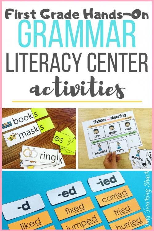 esol grammar literacy center activities