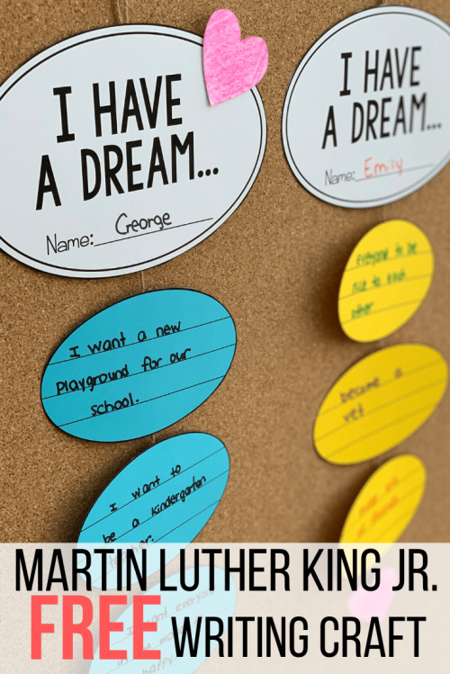 martin luther king jr free activity- writing craft