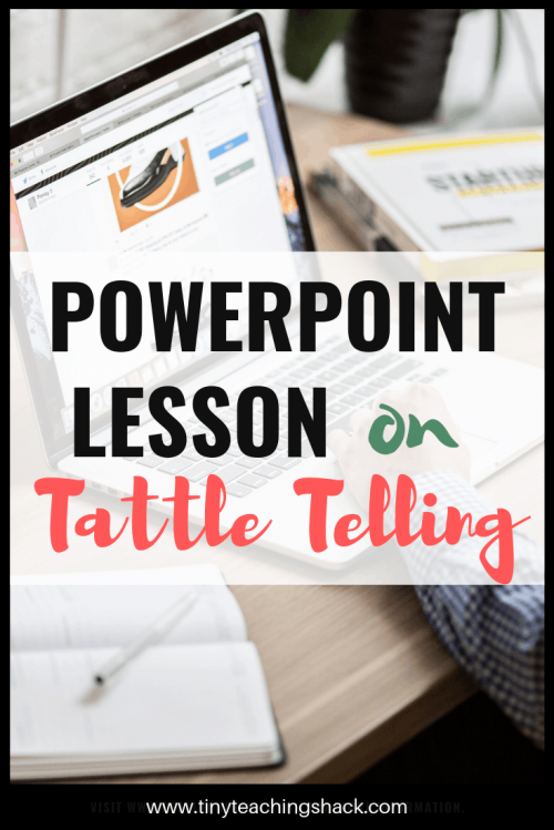 powerpoint lesson on tattle telling